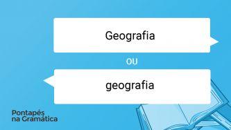 Como se escrevem as áreas do saber? Com minúscula ou maiúscula inicial?