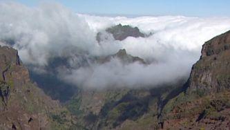 A montanha do Pico Ruivo