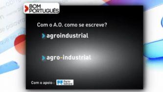 "Escreve-se ""agroindustrial"" ou ""agro-industrial""?"