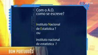 """""""Instituto Nacional de Estatística"""" ou """"instituto nacional de estatística""""?"""