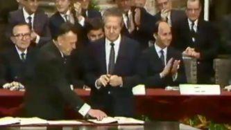 A assinatura da adesão à CEE