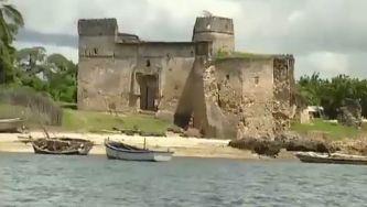 A Fortaleza de Quíloa na Tanzânia