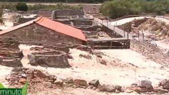 Ruínas romanas entre as dunas de Troia