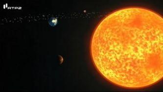 O sol e os planetas do sistema solar
