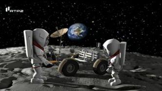 Explorar a lua num veículo espacial