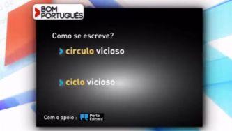 """Este erro é um """"círculo"""" ou um """"ciclo"""" vicioso?"""