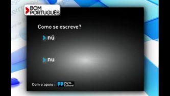 """Escreve-se """"nu"""" ou """"nú""""?"""