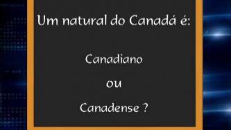 Qual é o gentílico de Canadá?