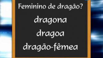 O substantivo dragão tem feminino?