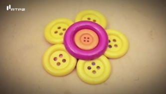 Como fazer um gancho flor de botões