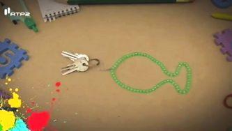 Como fazer um porta chaves peixe