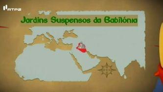 Os jardins suspensos da Babilónia, maravilha do oriente antigo