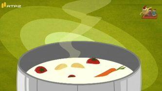 A sopa em pó