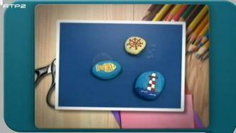 Como pintar pequenas obras de arte em pedras