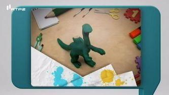 Como se faz um dinossauro de plasticina