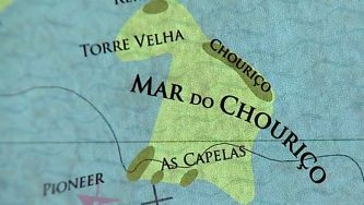 O mapa do mar do Algarve