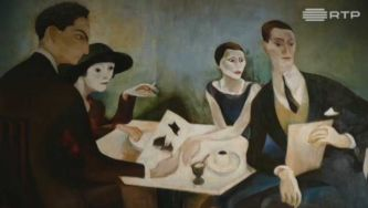 Arte na Gulbenkian: auto-retrato num grupo, de Almada Negreiros