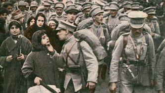 Mobilização e partida para a Grande Guerra