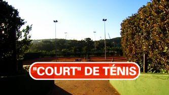 Court de ténis: o jogo tem campo em português