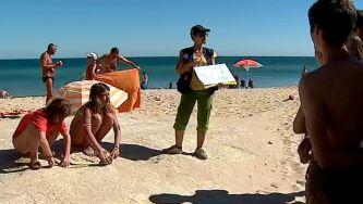 Pegadas de dinossauro em praias do Algarve