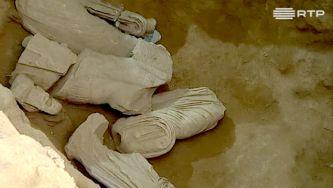 Estátuas romanas em Mértola