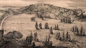 A fundação de Salvador, na Baía de Todos os Santos