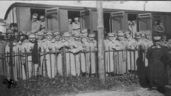 O comboio trazia as tropas para Lisboa