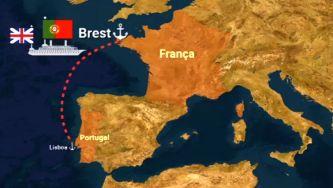 As dificuldades no transporte de tropas para França