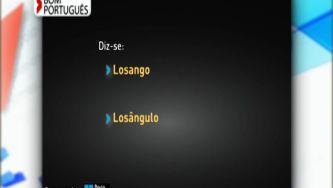 Escreve-se losango ou losângulo?