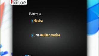 Qual é o feminino de músico?
