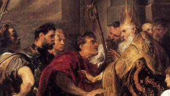 Morte do imperador Teodósio e divisão do Império Romano