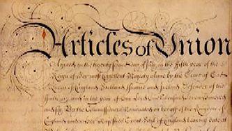 Entrada em vigor do Tratado da União entre a Inglaterra e a Escócia