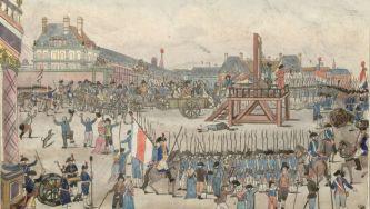 A execução de Robespierre, em França