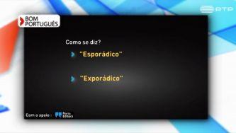 Esporádico ou exporádico, como se escreve?
