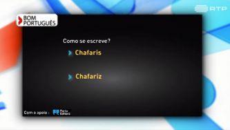 Escreve-se chafaris ou chafariz?