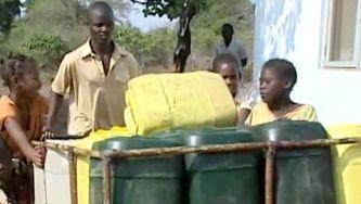 A falta de água potável em Moçambique
