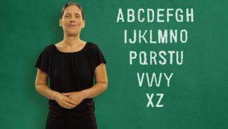 Dizer o abecedário em Língua Gestual