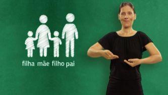 Gestos que traduzem família em Língua Gestual