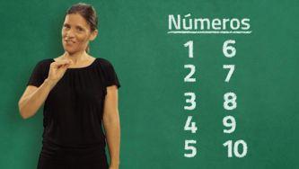 A lição dos números em Língua Gestual