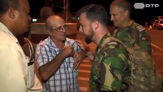 Fuzileiros localizam português em Moçambique