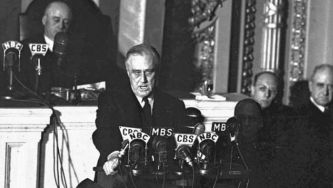 A declaração de guerra dos EUA ao Japão