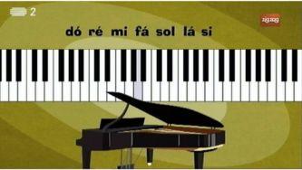 Porque é que o piano tem teclas brancas e pretas?