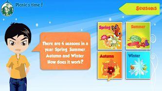 Estações do ano - Winter, Spring, Summer, Autumn