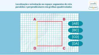 Segmentos de reta paralelos e perpendiculares em grelhas quadriculadas