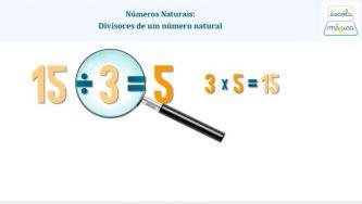 Números Naturais: divisores de um número natural