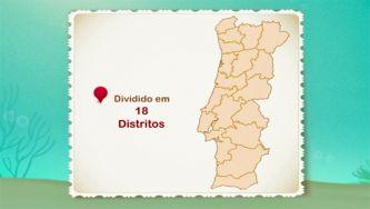 Como se divide o território português?