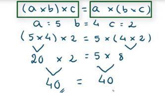 Propriedade comutativa e associativa da multiplicação