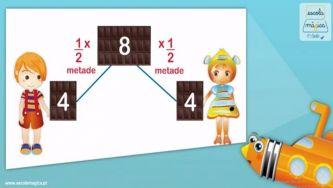 Operadores multiplicativos e partitivos: a metade e um terço