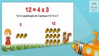 Operadores multiplicativos e partitivos: o quádruplo e a quarta parte