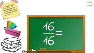 Números Racionais Não Negativos: comparação de frações com a unidade